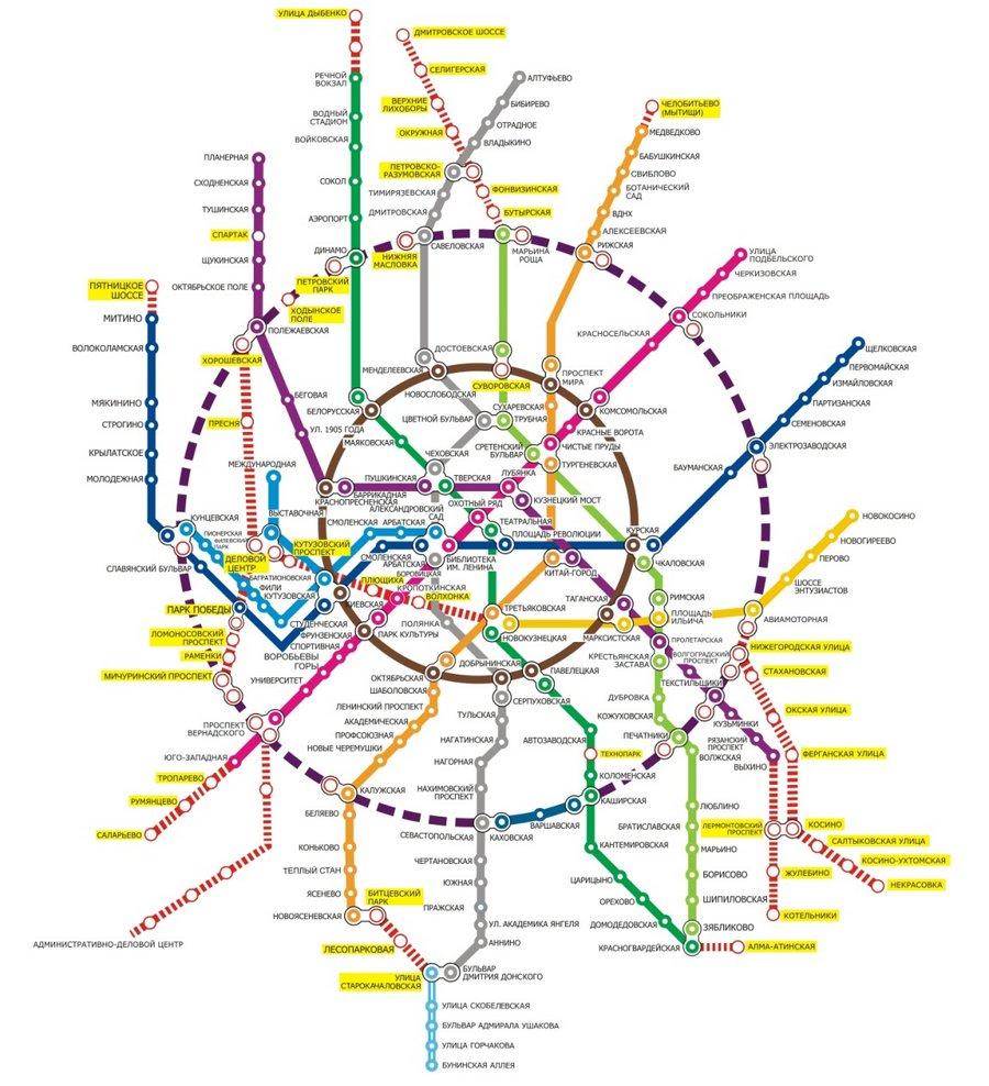 Ответ: план развития московского метро до 2020 года.