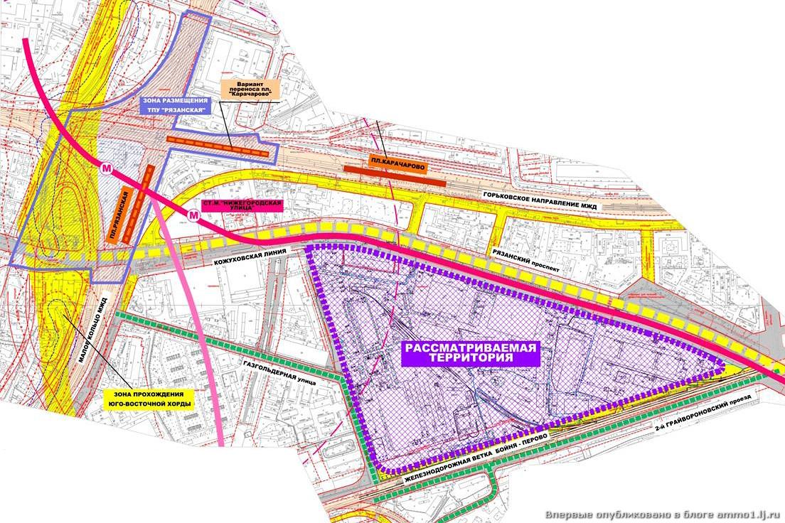 Слева пройдёт большая автомагистраль - Юго-Восточная хорда, однако новый микрорайон находится от неё на некотором...
